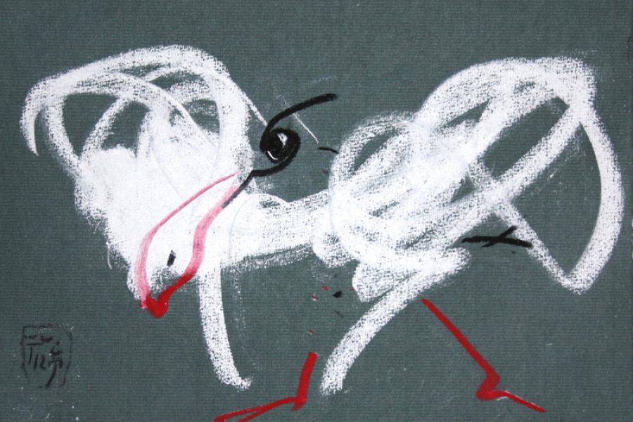 "Torsten Schlüter, ""Bayreuth"", 2012, Kreide, 17,5x25,5cm"