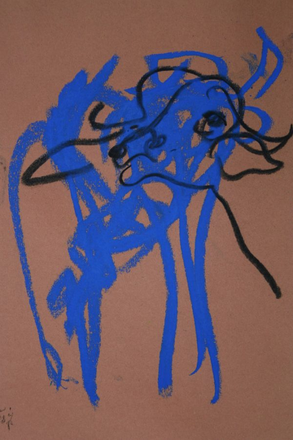 "Torsten Schlüter, ""Young Buffalol"", 2008, Pastell, 25x17cm"