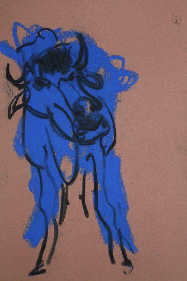 """Torsten Schlüter, """"Buffalol"""", 2008, Pastell, 25x17cm"""