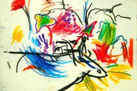 "Torsten Schlüter, ""Heiliges Tier"", 1998, Pastell, 16x21cm"