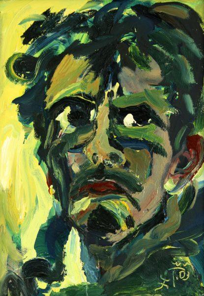 "Torsten Schlüter, ""Selbstbildnis"", Öl, 2003, 70x50cm"