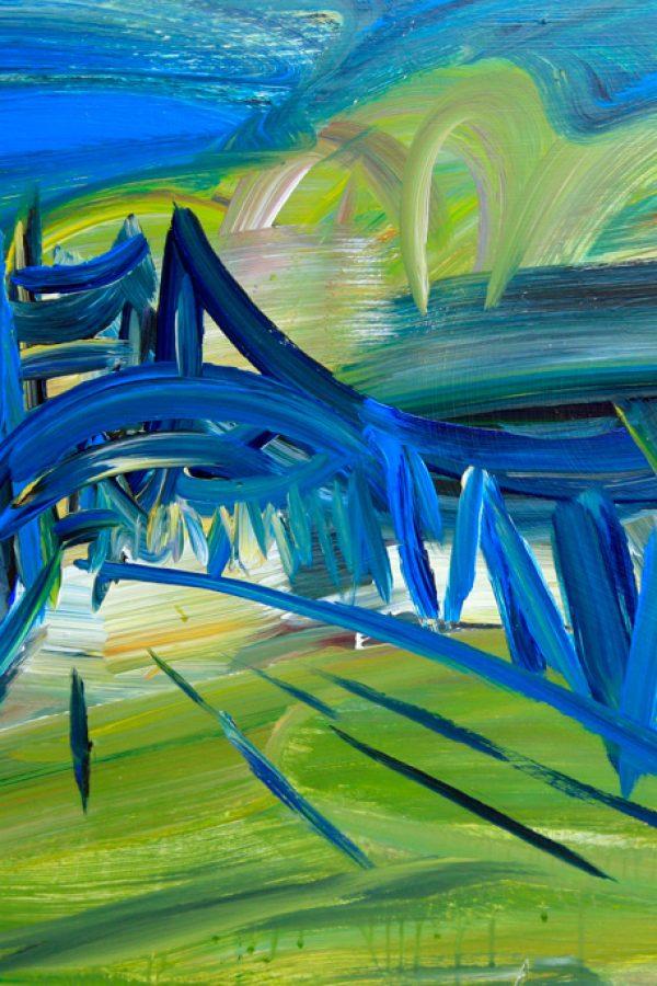 """Torsten Schlüter, """"Svinemünder Strasse"""", 1998, Acryl, 76x105cm"""