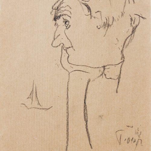 """Torsten Schlüter, """"Don Pastore"""", 2010, Bleistiftzeichnung 25,5x17,5 cm"""