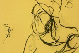 """Torsten Schlüter, """"Lust"""", 2007, Kohlezeichnung, 65x50cm"""