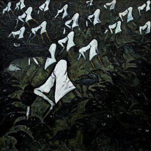 "Torsten Schlüter, ""Fukushima"", 2013, Öl auf Leinwand, 180x180cm"