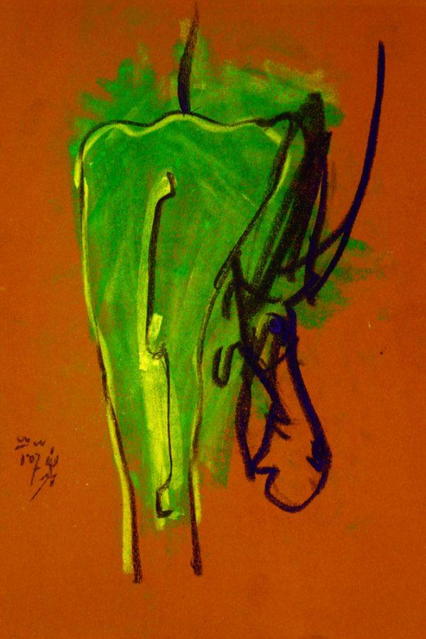 "Torsten Schlüter, ""Graziano"", 2007, Pastell, 25x17cm"