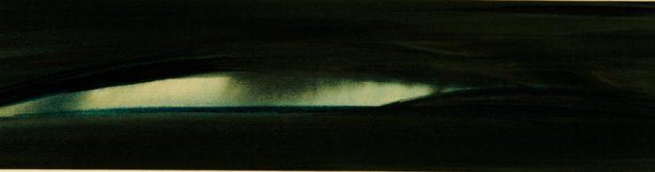 """Torsten Schlüter, """"Weißer Keil"""", 2010, Aquarell, 20x70cm"""