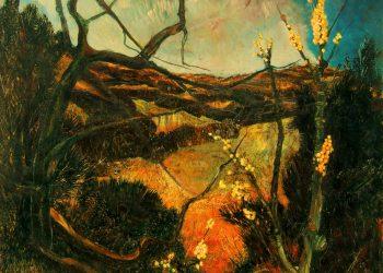 """Torsten Schlüter, """"Hoffnung"""", 1987, Öl auf Leinwand, 81x81cm"""