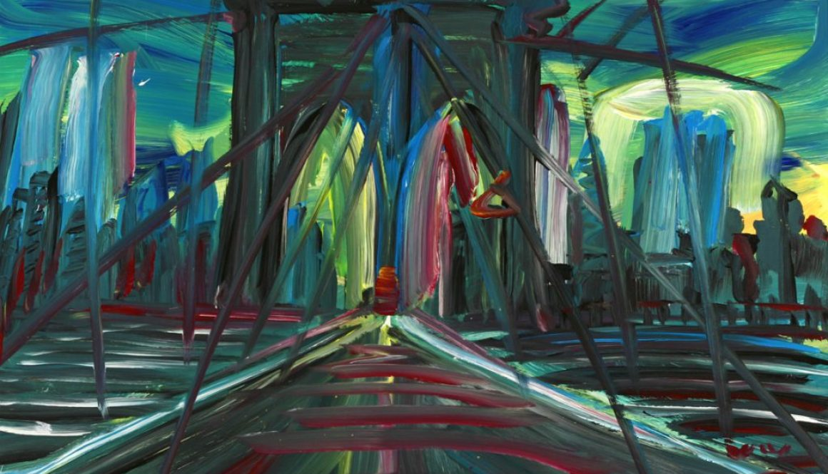 "Torsten Schlüter, ""Brooklyn Bridge"", 1997, Acryl, 100x140cm"