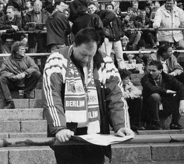 Leiden in der Halbzeitpause im Stadion an der Alten Försterei, 1995
