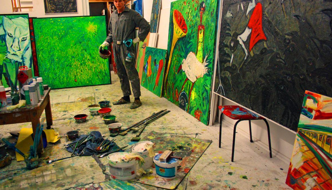 Im Berliner Atelier, 2013