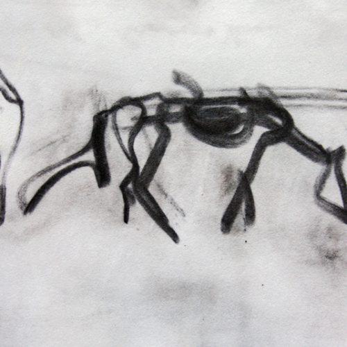 """Torsten Schlüter, """"Freiheit"""", 2014, Kreide, 17,5x25,5cm"""