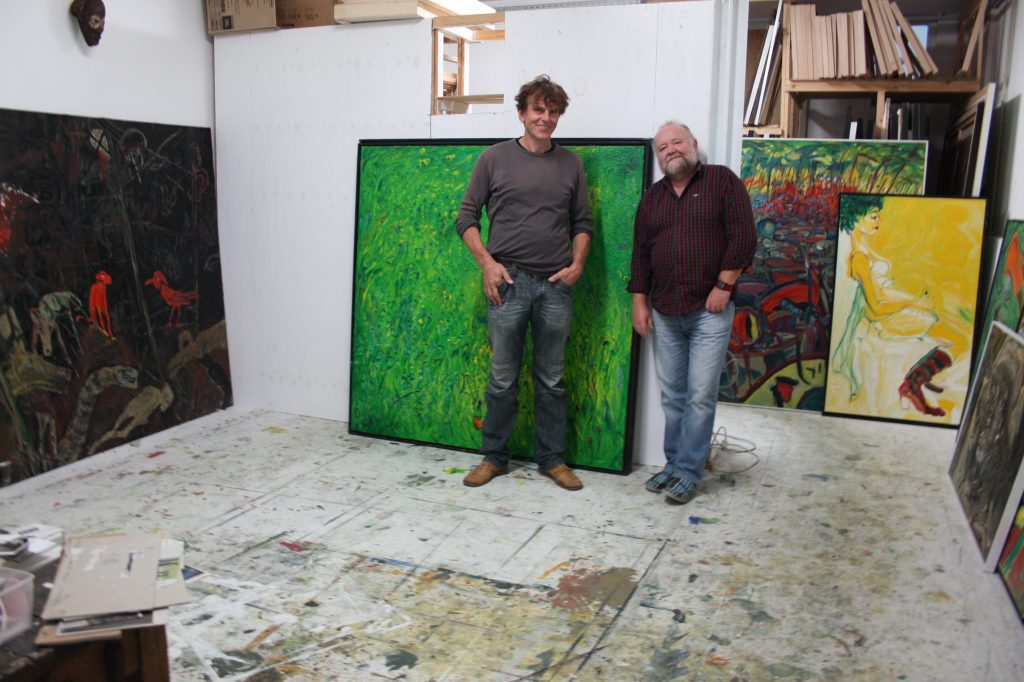 Im Berliner Atelier, 2013, Torsten Schlüter und Winfried Wunderlich