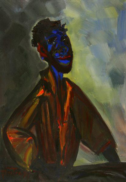 """Torsten Schlüter, """"Mussaa"""", 1999, Acryl auf Leinwand, 175x125cm"""