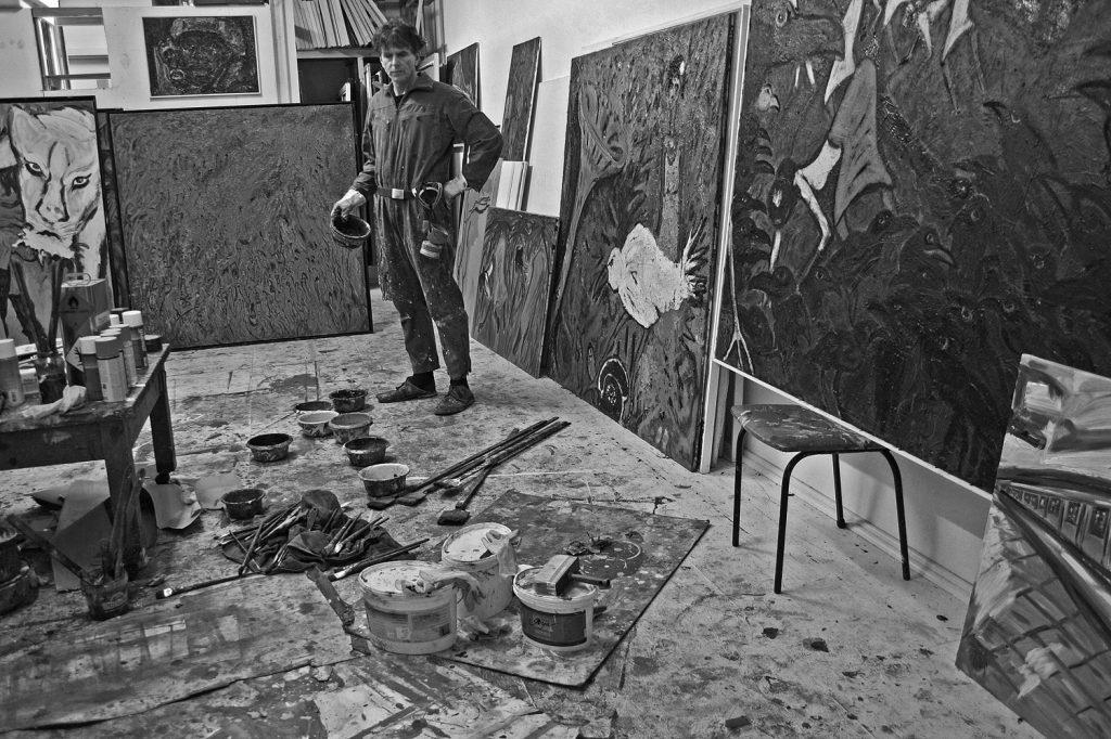 Im Berliner Atelier an der Jannowitzbrücke