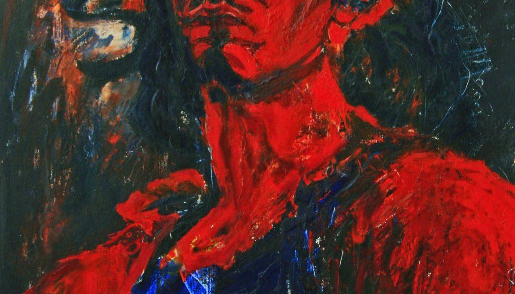 """Torsten Schlüter, """"Junger Wilder"""", 1986, Öl auf Holz, 90x65cm"""