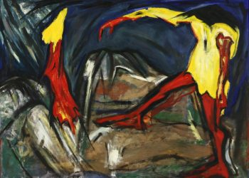 """Torsten Schlüter, """"The Rape"""", 1992, Öl auf LW, 180x125cm"""