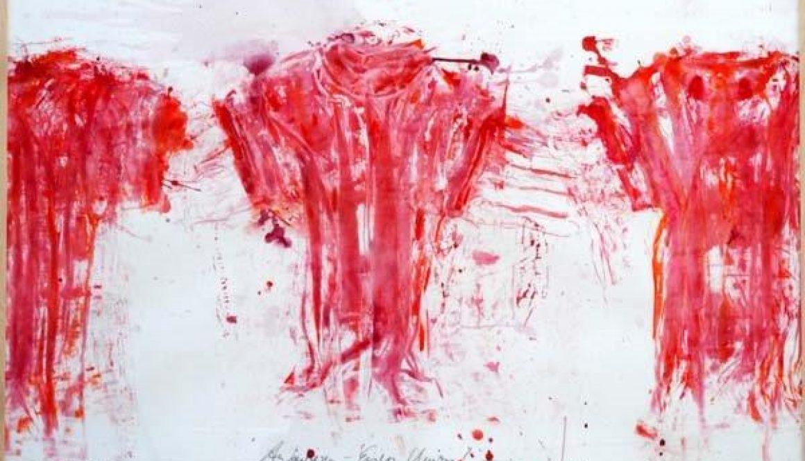 Die Offensive, Acryl auf Karton, 2001, 100x140cm