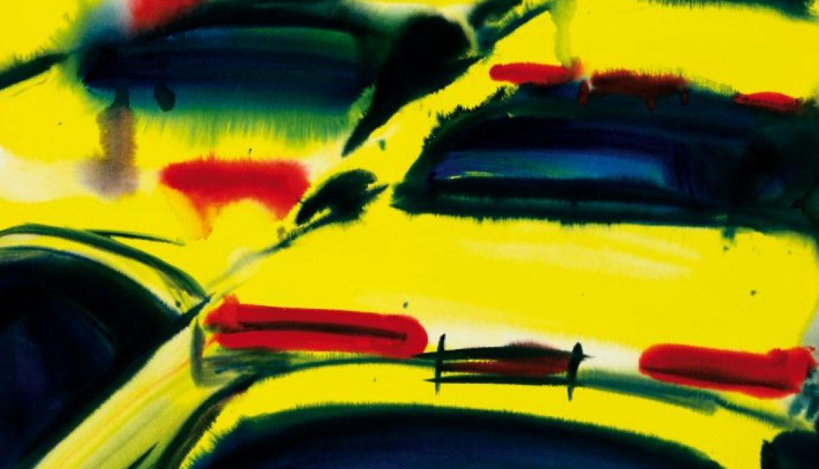 Yellow Cabs, 1998, Aquarell, 105x76cm IX