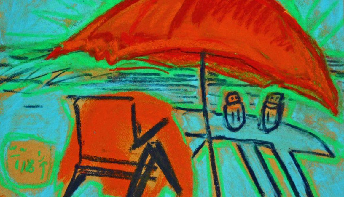 JRG,Salt und Pepper, Tisch und Stuhl unter einem Dach ,29x39cm, 2.400,Kopie