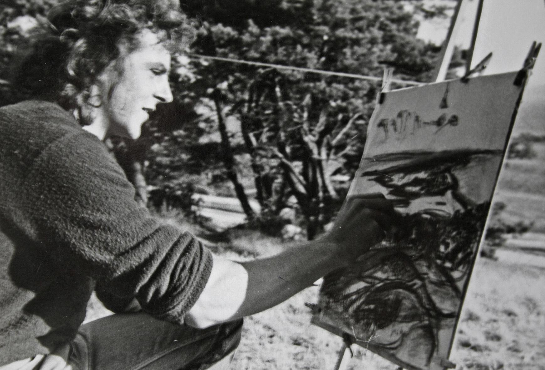 sw-Bild von 1986, Hiddensee
