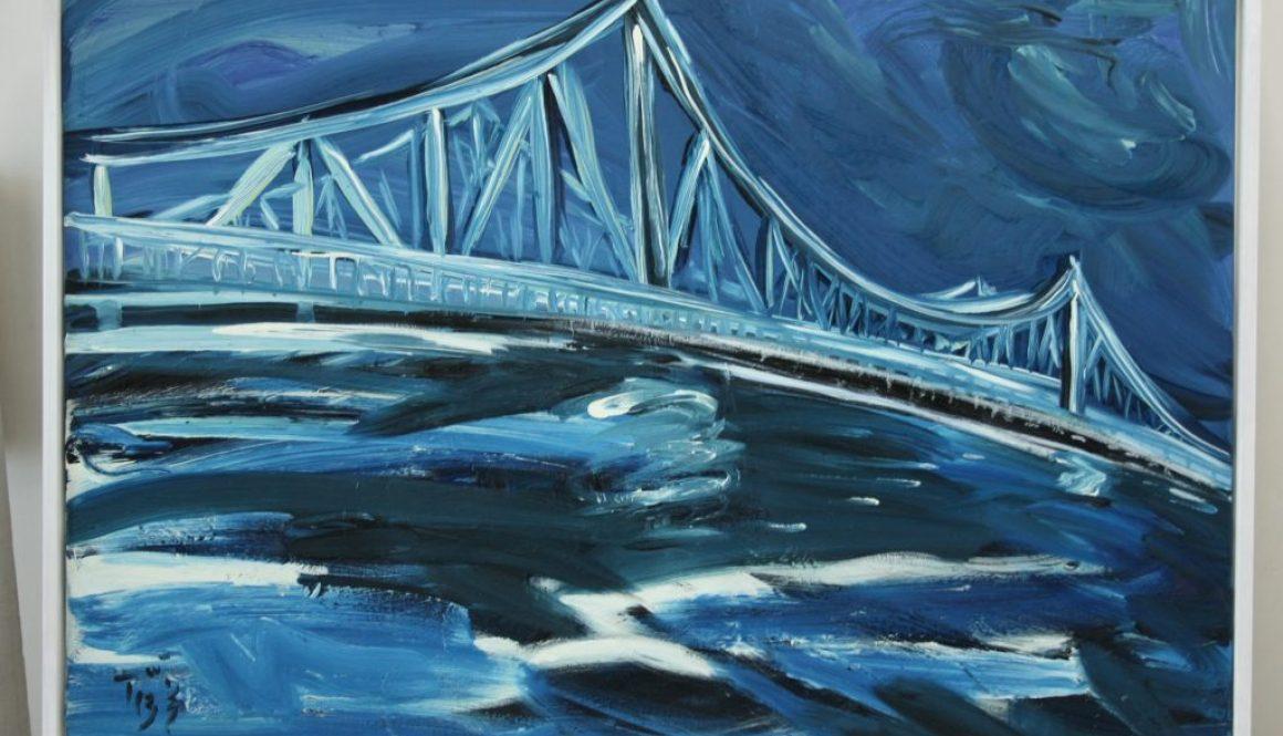 Offen im Wind, (Glienicker Brücke), 2013, Öl auf Leinwand, 80x120cm, 8.500,-€
