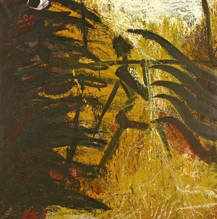 Der Läufer, 1996, Öl auf Leinwand, 180 x 180cm