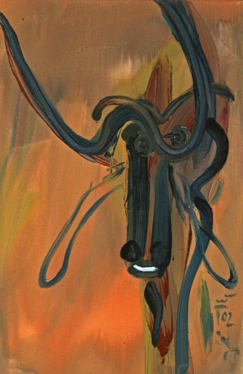 True Buffalo, 2002, Öl auf Leinwand, 60x40cm