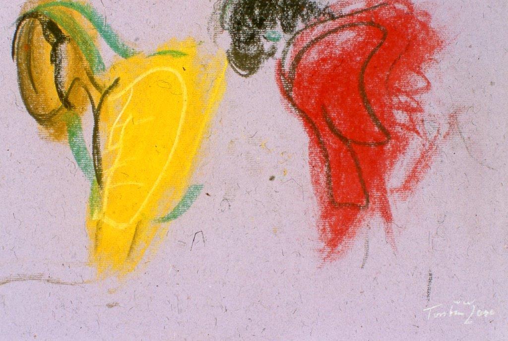 Yellow and Red, Reiseskizzen, 2007, Pastell