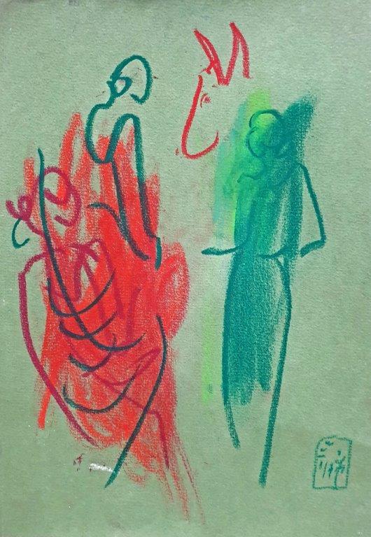 Zirkus Shakespeare, 2017, Pastell, 25,5 x 17,5cm