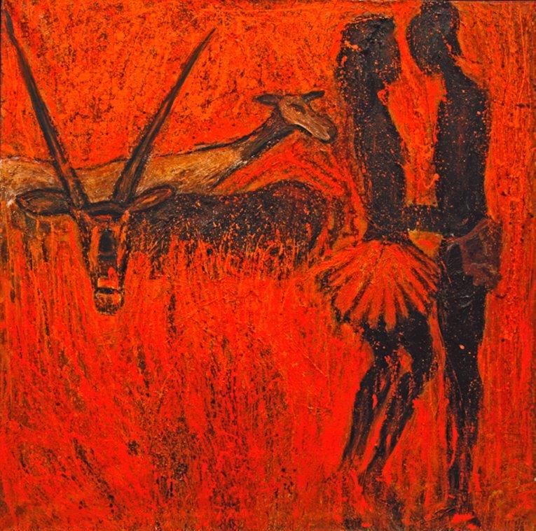 Abschied von Europa, 1998, Öl auf Leinwand, 180x180cm