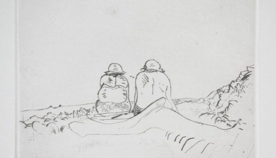 An der Hucke, 2015, nach Skizze von 1989, Kaltnadelrad, 15x20cm